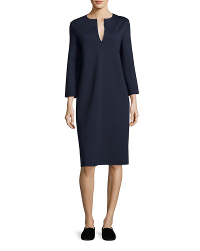 Selmac Scuba Caftan Dress, Navy