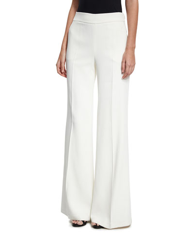 Cady Wide-Leg Pants, White