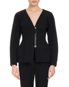 Campion Sculpted Zip-Front Jacket, Black
