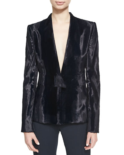 Evangelina Velvet V-Neck Jacket