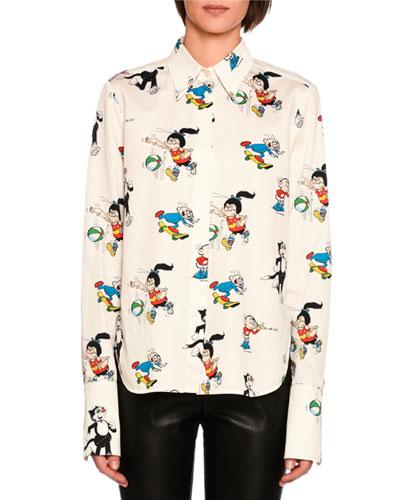 Didi & Korky the Cat Cotton Shirt