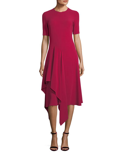 Francesca Handkerchief-Hem Midi Dress