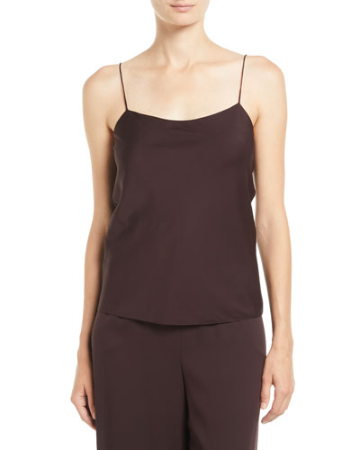 e28cfb05fc Quick Look. THE ROW · Biggins Scoop-Neck Silk Camisole Top