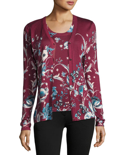 Forbidden Fruit V-Neck Cardigan, Wine