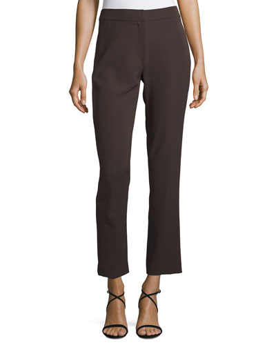 Tech Cady Slim-Straight Pants, Brown