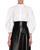Victorian Full-Sleeve Blouse, White