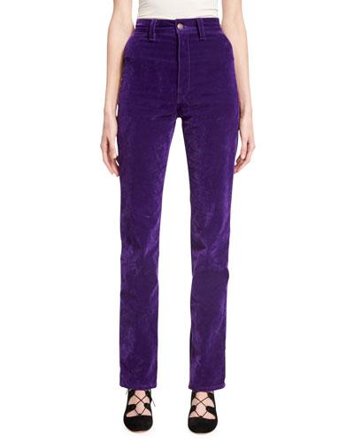 Velvet High-Rise Disco Jeans, Purple