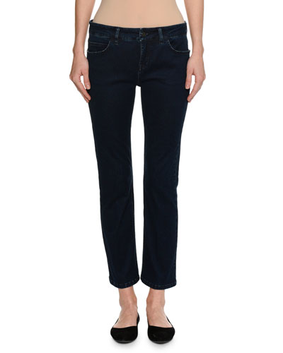 Low-Rise Slim-Straight Jeans, Blue