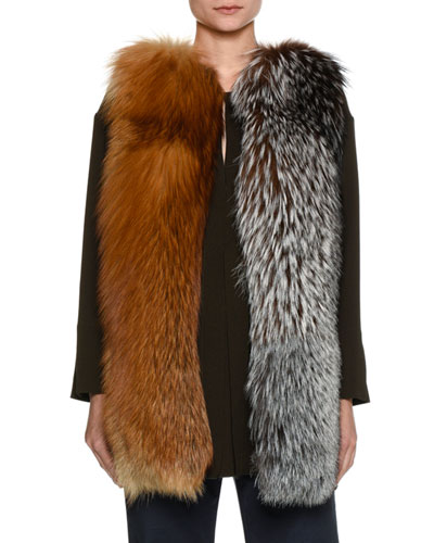 Mixed Fox Fur Vest