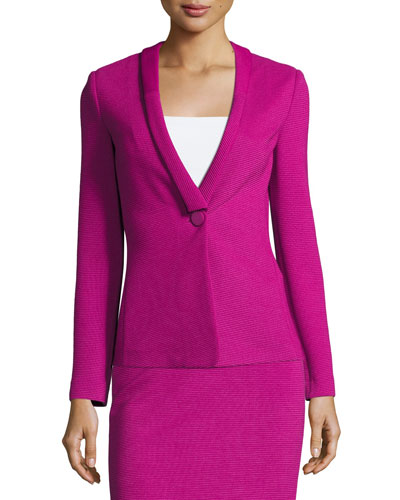 Ottoman Jersey One-Button Blazer