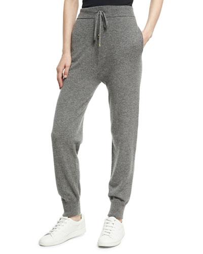 Cashmere High-Waist Jogger Pants