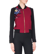 Rushenden Floral Embroidered Bomber Jacket