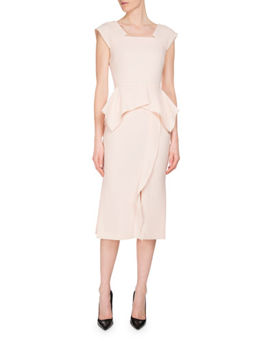 Sawleigh Peplum Sheath Dress, Blush