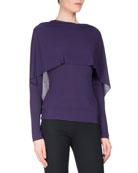 Bagnet Cowl-Neck Long-Sleeve Top