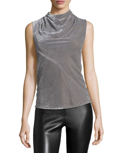 Bonnie Draped Velvet Top