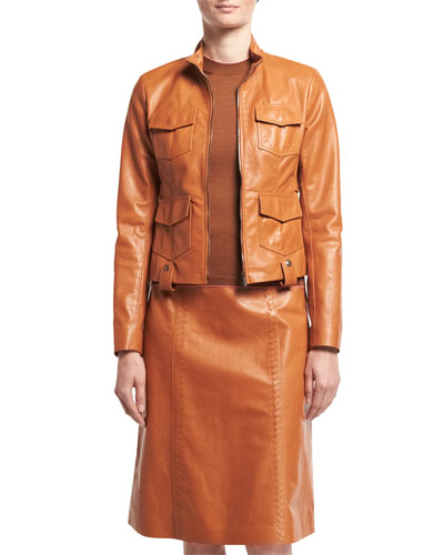 Calf Leather Safari Jacket