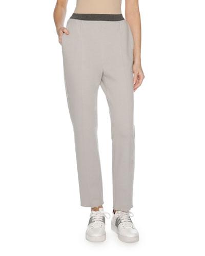 Wool Jersey Sporty Pants