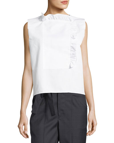 Chantilly Sleeveless Poplin Blouse