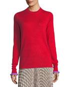 Crewneck Cashmere-Blend Sweater