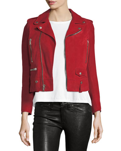 Classic Suede Moto Jacket