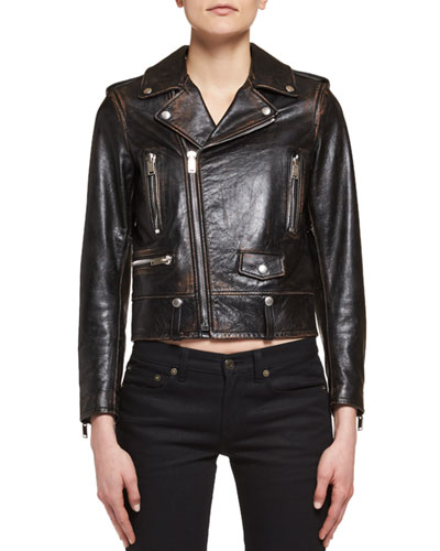 No Smoking Leather Moto Jacket