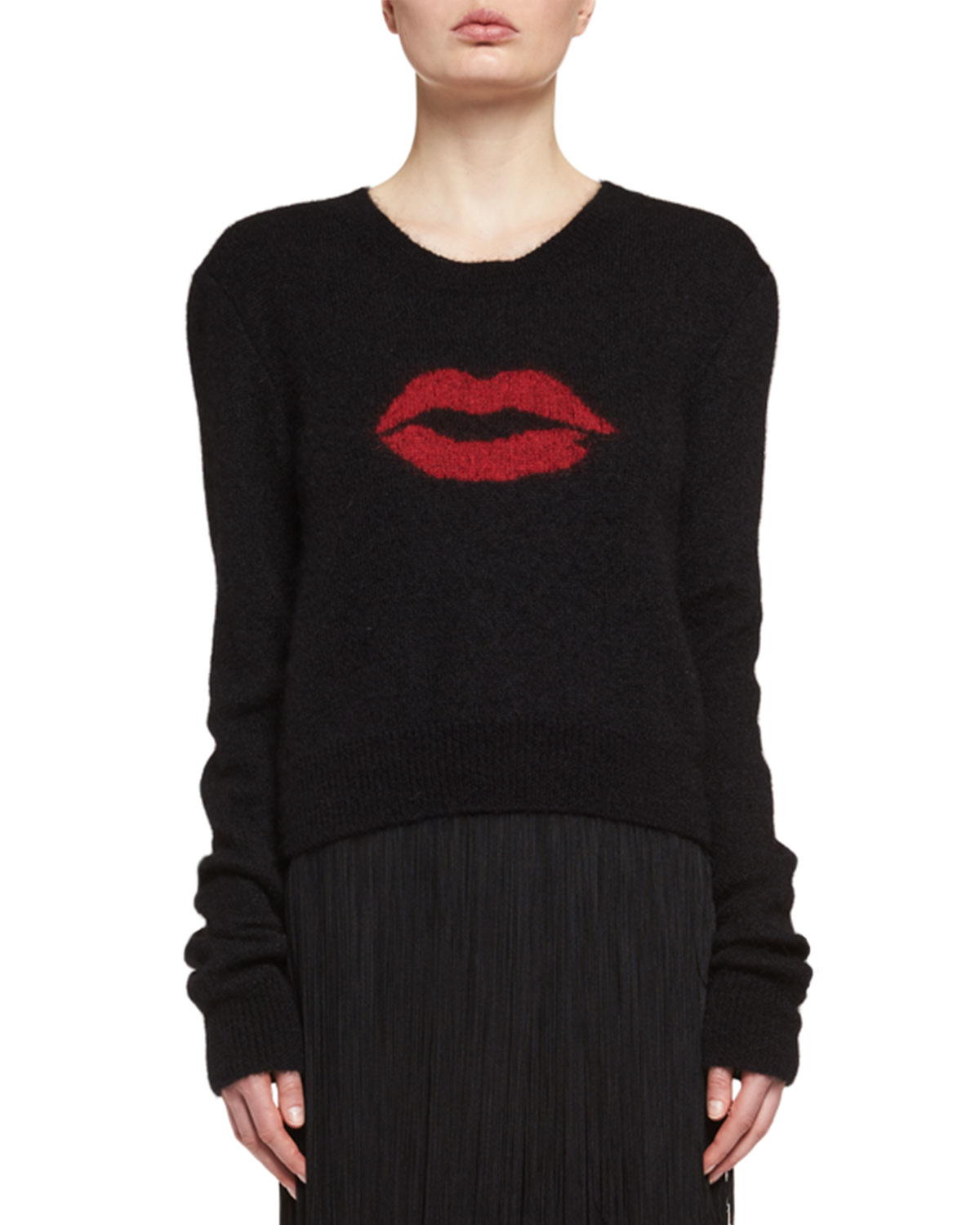 Lips Mohair Crewneck Sweater