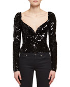 Sequined Sweetheart Top