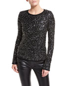 Sequined Wool Sweater