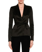 Fitted Silk Tuxedo Jacket