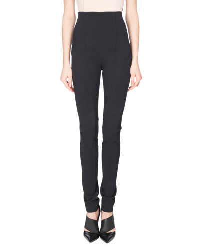 High-Waist Leggings, Black