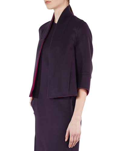 Kahlo Reversible Cashmere Short Jacket