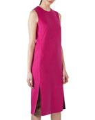 Reversible Bicolor Cashmere Sheath Dress