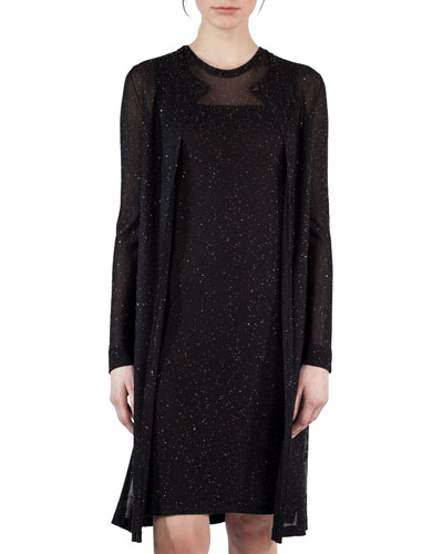 Sequined Side-Slit Cardigan
