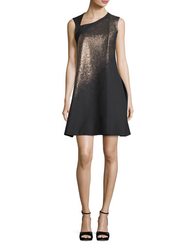 Metallic A-Line Cocktail Dress