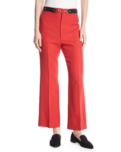 Wool-Silk Horsebit Pants
