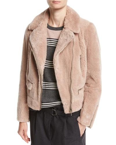 Castarino Fur Moto Jacket