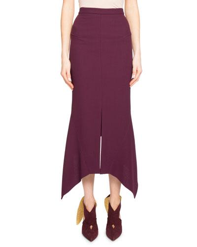 Milton Handkerchief Midi Skirt