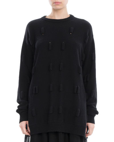 Bubble Wool-Cashmere Oversized Sweater