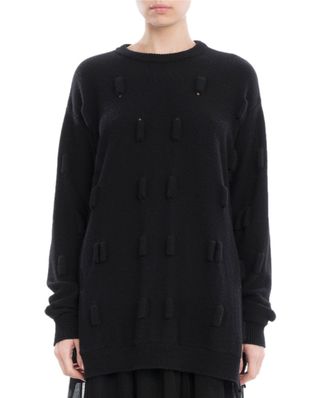 Bubble Wool-Cashmere Oversized Sweater