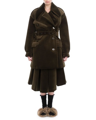 Neoprene Military Pea Coat