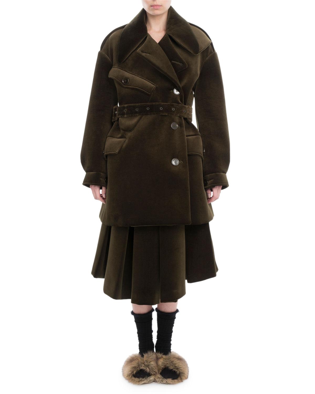 Neoprene Military Pea Coat