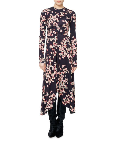 Diana Cherry Blossom Jersey Midi Dress