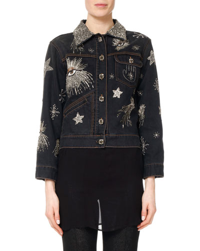 Eloise Embellished & Embroidered Jean Jacket
