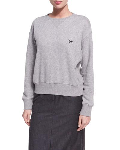 Cotton Terry Crewneck Sweatshirt