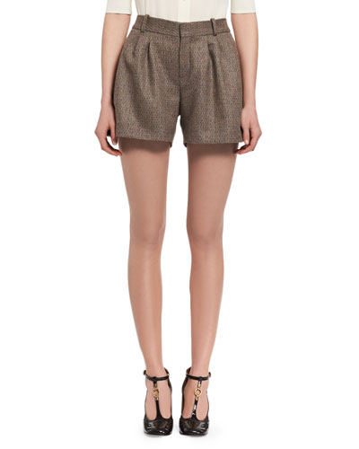 Fantasy Tweed Shorts, Beige