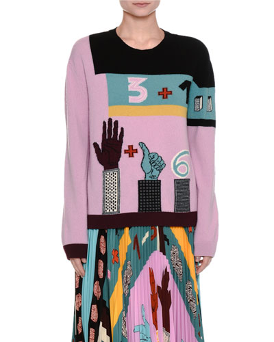 Counting Intarsia Virgin Wool Sweater
