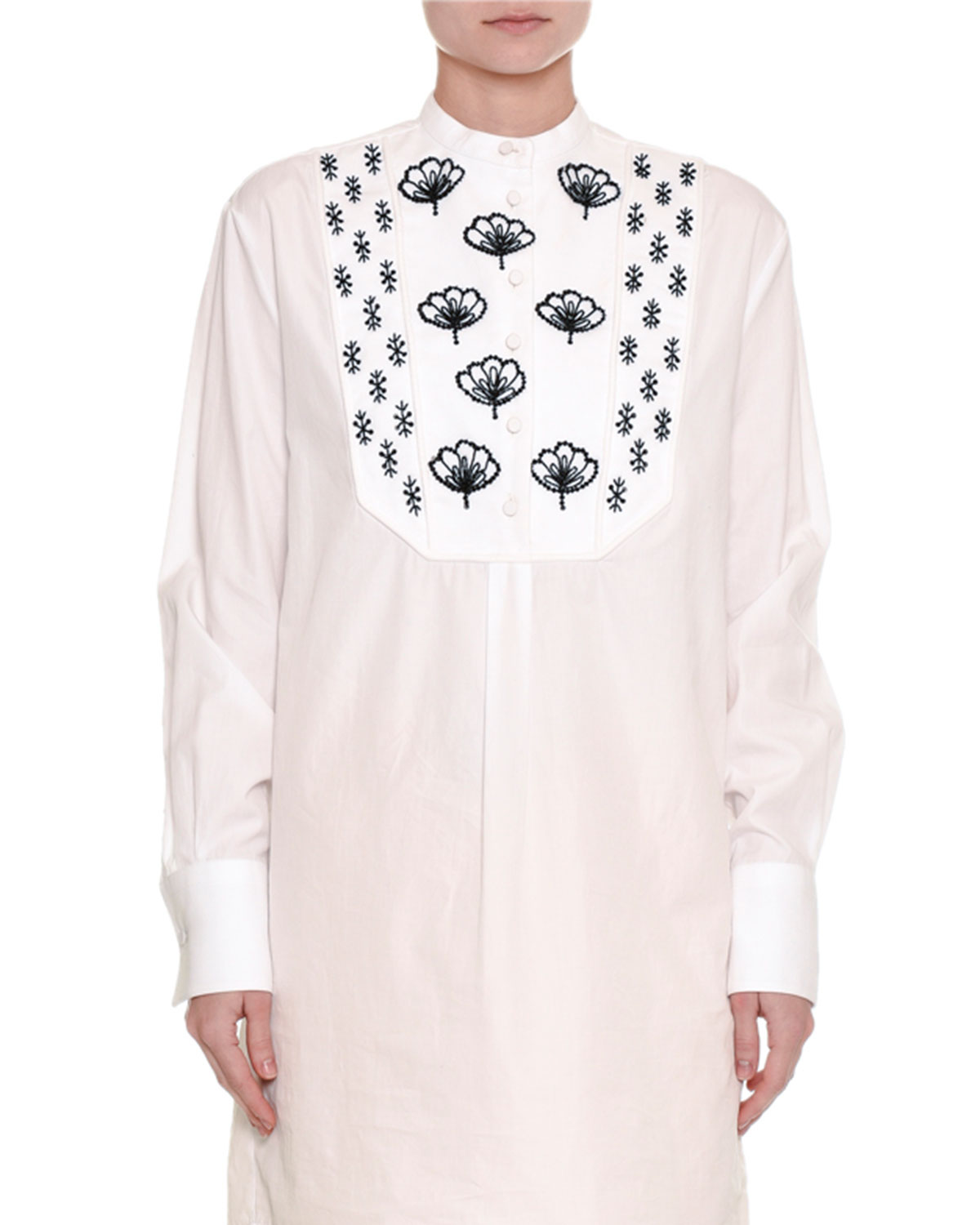 Embroidered Long Cotton Tunic
