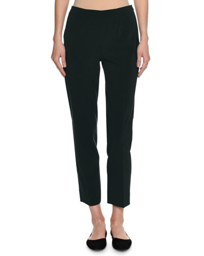 Monia Virgin Wool Slim Ankle Pants