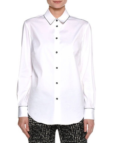 Beaded Cotton Shirt