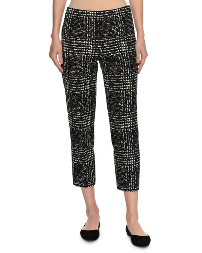 Audrey Prince of Wales Slim Cropped Pants
